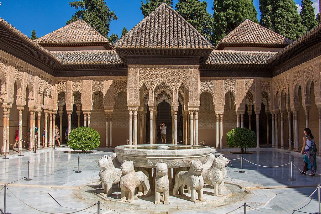 highlights of spain patio leones granada alhambra