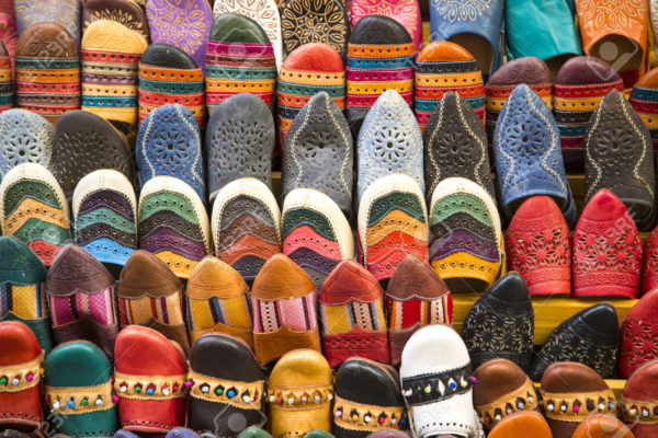 arabic colored slippers