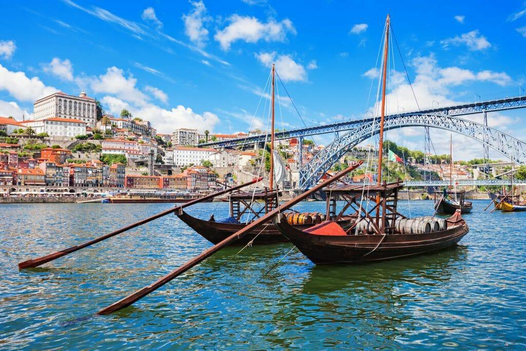 old boats in porto port