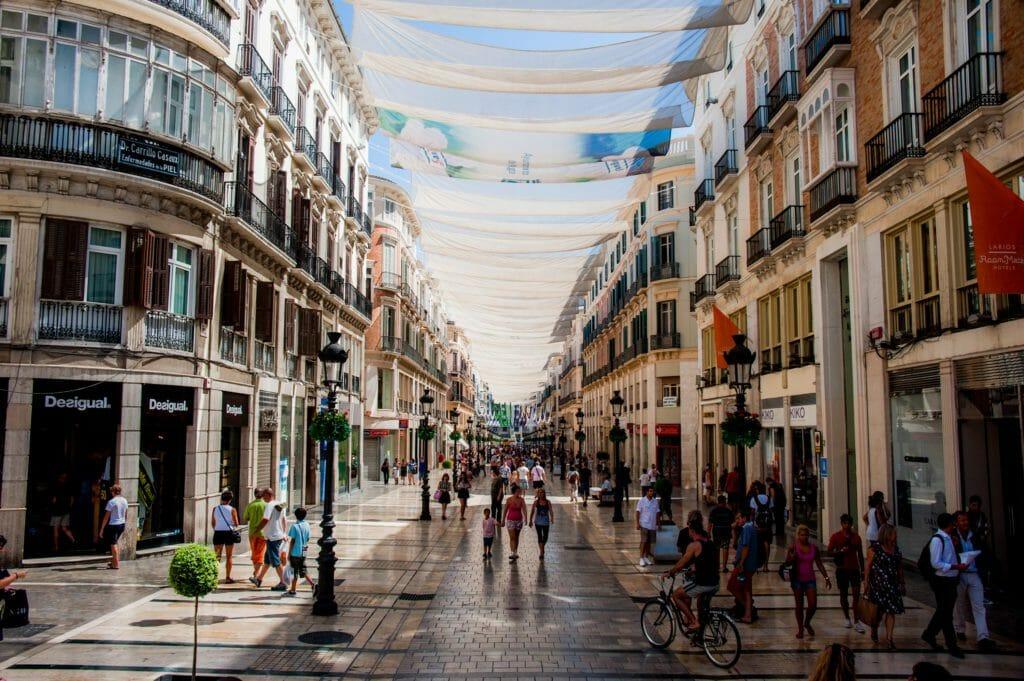 visita españa y calle larios